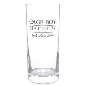 Personalised Mr & Mrs Page Boy Hi Ball Glass - Product number 3514676