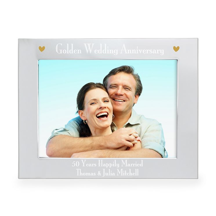 Personalised Golden Anniversary 5x7 Frame - Product number 3515974