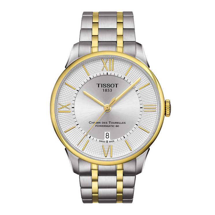 Tissot Chemin de Tourelles men's two colour bracelet watch - Product number 3518922