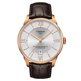 Tissot Chemin de Tourelles men's rose gold-plated watch - Product number 3518949