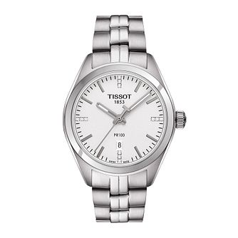 Tissot PR100 ladies' stainless steel bracelet watch - Product number 3518957