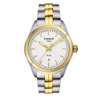 Tissot PR 100 ladies' two colour bracelet watch - Product number 3519090