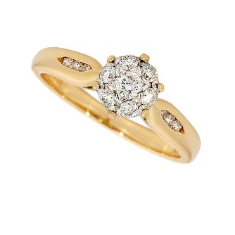 18ct gold third carat diamond cluster ring - Product number 3522490