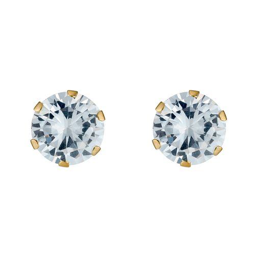 Gold Cubic Zirconia Earrings - Product number 3548848