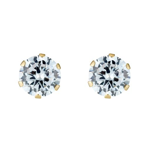 Gold Cubic Zirconia Stud Earrings - Product number 3548872