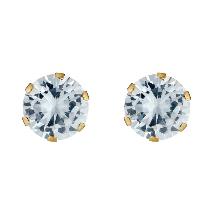 Gold Cubic Zirconia Earrings - Product number 3548880