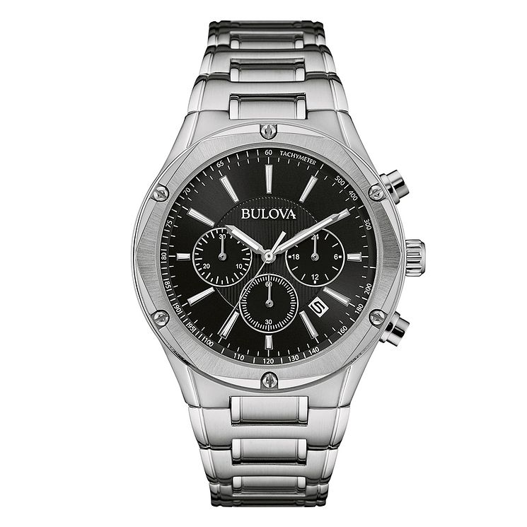 Bulova Men's Grey Dial Stainless Steel Bracelet Watch - Product number 3562638