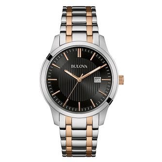 Bulova Men's Two Colour Bracelet Watch - Product number 3562662