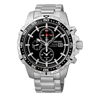 Seiko Solar Men's Chronograph Stainless Steel Bracelet Watch - Product number 3562735