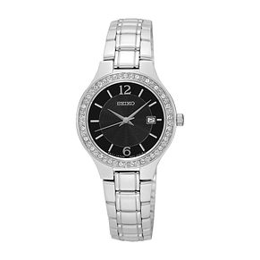 Seiko Ladies' Stone Set Stainless Steel Bracelet Watch - Product number 3562743
