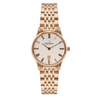 Dreyfuss & Co Ladies' Gold-plated White Dial Bracelet Watch - Product number 3569543