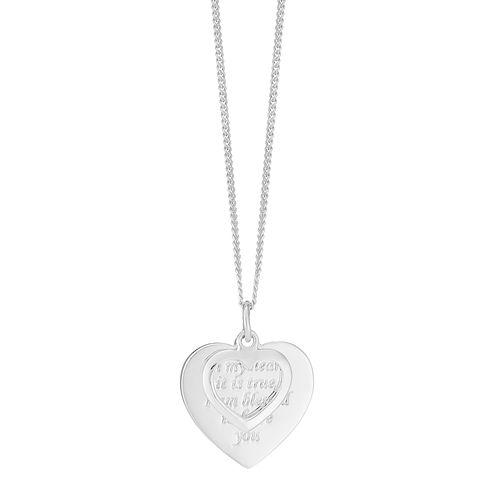 Sterling Silver Message Heart Pendant - Product number 3569578