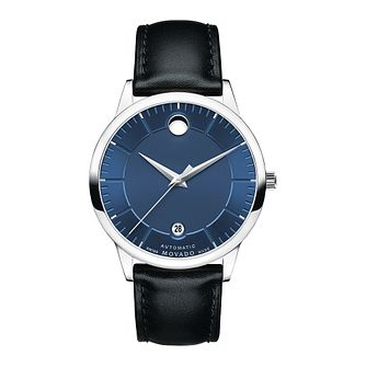 Movado 1881 men's stainless steel blue dial strap watch - Product number 3571556