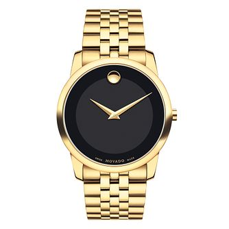 Movado Museum men's gold-plated bracelet watch - Product number 3572633