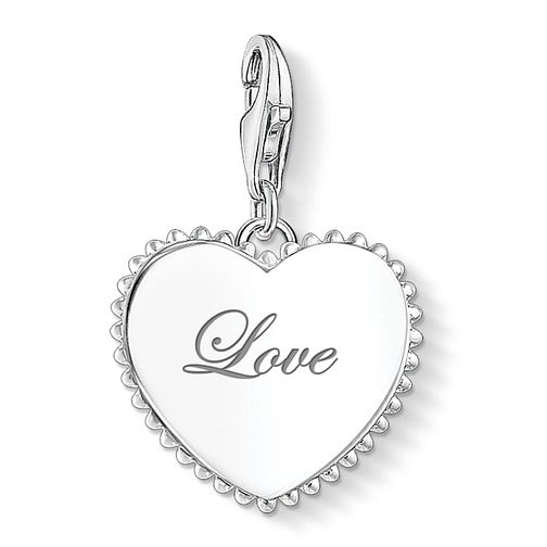 Thomas Sabo Ladies' Sterling Silver Love Heart Charm - Product number 3572765
