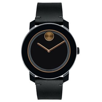 Movado Bold TR90 men's stainless steel black strap watch - Product number 3573486
