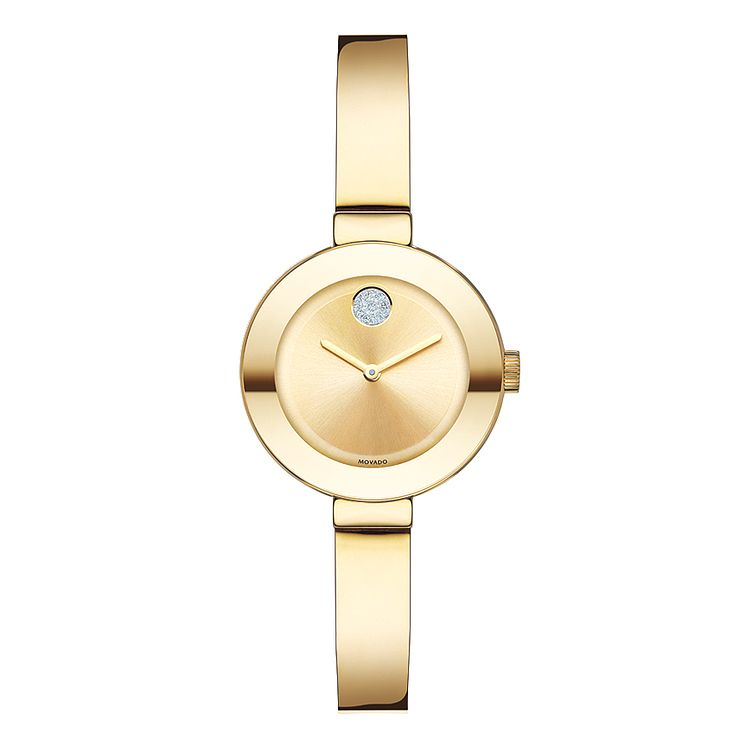 Movado Bold ladies' gold-plated bangle bracelet watch - Product number 3573559