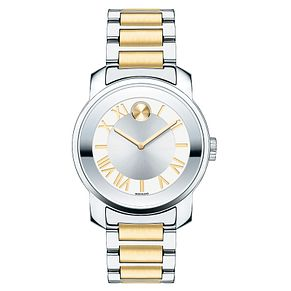 Movado Bold two colour luxury silver dial bracelet watch - Product number 3573656