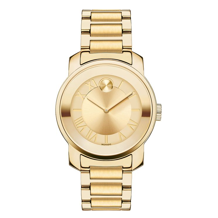 Movado Bold ladies' gold-plated champagne bracelet watch - Product number 3573702