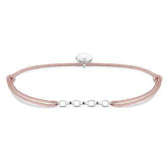 Thomas Sabo Ladies' Sterling Silver Pink Bracelet - Product number 3575802