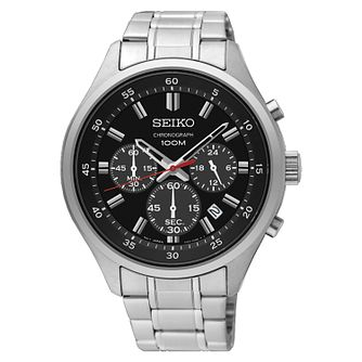 Seiko Men's Stainless Steel Bracelet Chronograph Watch - Product number 3575837