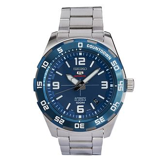 Seiko Sports 5 Men's Stainless Steel Bracelet Watch - Product number 3575861