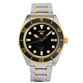 Seiko Sports 5 Men's Two Tone Stainless Steel Bracelet Watch - Product number 3575888