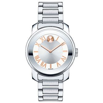 Movado Bold ladies' stainless steel silver bracelet watch - Product number 3576345