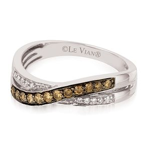 Le Vian 14ct Vanilla Gold Chocolate Diamond Ring - Product number 3577929