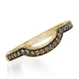 Le Vian 14ct Honey Gold Chocolate Diamond band - Product number 3579670