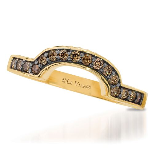Le Vian 14ct Honey Gold Chocolate Diamond band - Product number 3581411