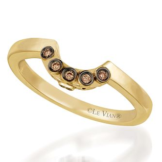 Le Vian 14ct Honey Gold Chocolate Diamond band - Product number 3583546