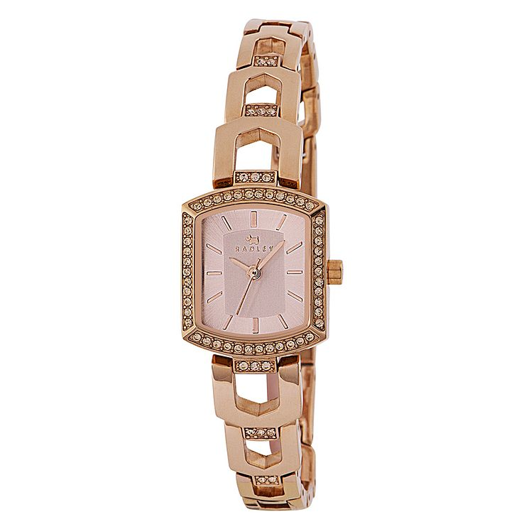 Radley Ladies' Stone Set Rose Gold-Plated Bracelet Watch - Product number 3590054