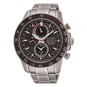 Seiko Sportura Solar Men's Stainless Steel Bracelet Watch - Product number 3590577