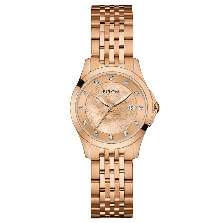 Bulova Diamond Gallery ladies' rose gold-plated watch - Product number 3592898
