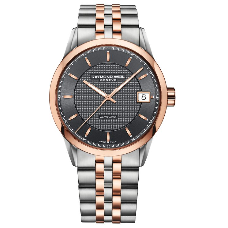 Raymond Weil Freelancer men's two colour bracelet watch - Product number 3595676