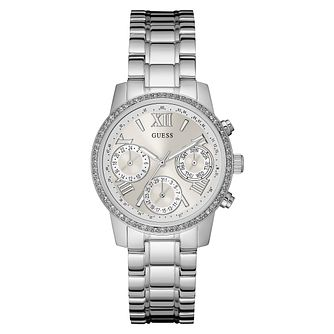Guess Ladies' Stainless Steel Stone Set Bracelet Watch - Product number 3596702