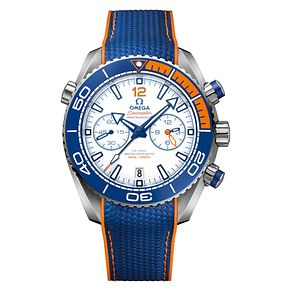Omega Limited Edition Michael Phelps Men's Blue Strap Watch - Product number 3598780
