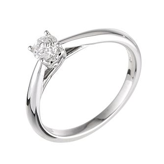 9ct white gold third carat diamond solitaire ring - Product number 3609138
