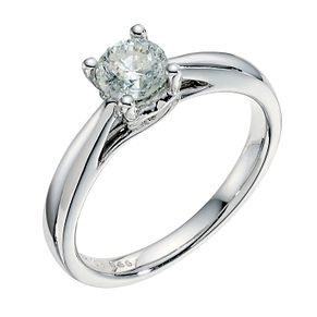 9ct white gold 2/3ct solitaire diamond ring - Product number 3609669