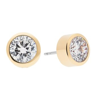 Michael Kors Park Avenue Gold Tone Pave Stud Earrings - Product number 3616967