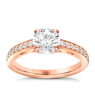 Swarovski Attract rose gold-plated ring size N - Product number 3626407