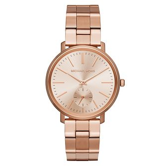 Michael Kors Jaryn Ladies' Rose Gold Tone Bracelet Watch - Product number 3630536