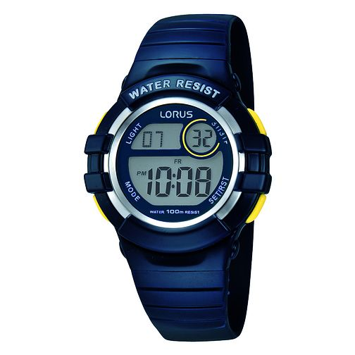 Lorus Children's Digital Display Blue Rubber Strap Watch - Product number 3631567
