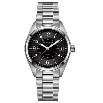 Hamilton Khaki Field men's stainless steel bracelet watch - Product number 3632482