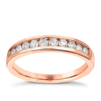 9ct Rose Gold 0.33ct Diamond Channel Set Eternity Ring - Product number 3636852