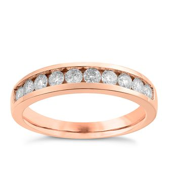 9ct Rose Gold 0.50ct Diamond Ring - Product number 3637557