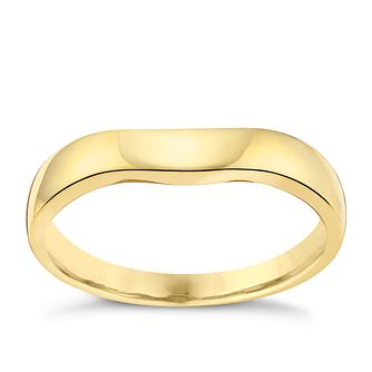 18ct Yellow Gold Shaped Wedding Band With Slight Curve - Product number 3644154