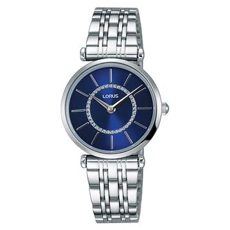 Lorus Ladies' Blue Dial Stainless Steel Bracelet Watch - Product number 3654184