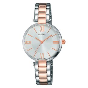 Pulsar Ladies' Rose Gold Plated Two Tone Bracelet Watch - Product number 3654338